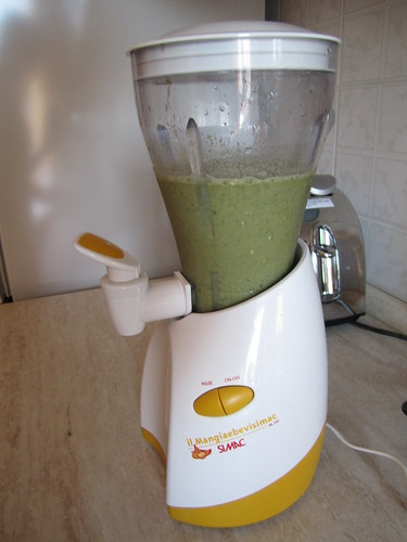 Basil Banana Almond Milk Smoothie