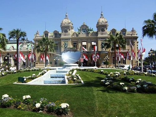 view of exclusive casino in Monte Carlo, Monaco