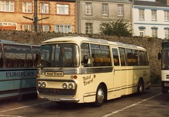EUG883D, Torquay Coach Station, mid 1980s (aecregent) Tags: reliance aec plaxton coachstation wallacearnold totaltravel eug883d