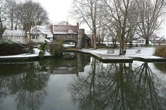 Pulls Ferry in the Snow (RobAucklandNZ) Tags: norwich pullsferry riverwensum