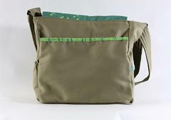 Vinyl Messenger Bag Back