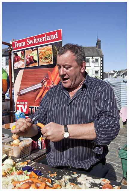 Vendor at Lammas Fair, Ballycastle 2
