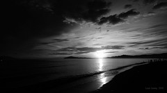 B & W sunrise 2 (Lean Ansing) Tags: sea white black beach nature fauna lumix flora philippines resort oriental mindoro calapan anahaw lx3