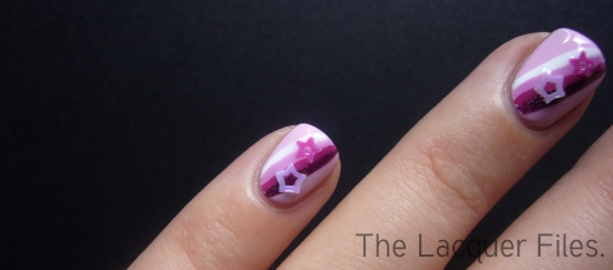 Shooting Stars Nail Art Design Star Glitter Viva La Nails