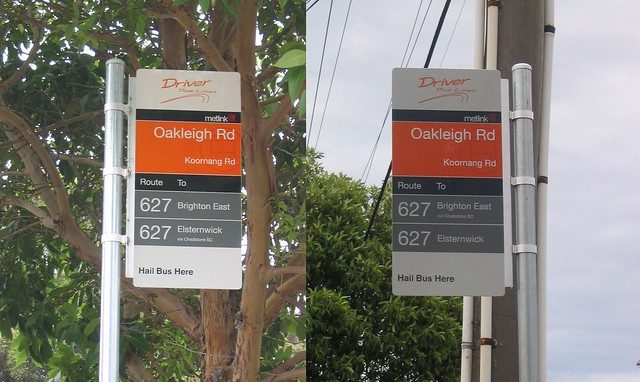 Confusing 627 bus stop signs