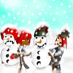 Christmas (Zegawa) Tags: sun hat blood snowman afro kin rogerrog