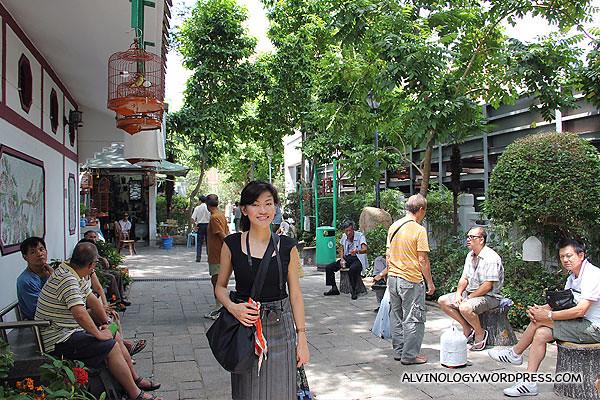Rachel in Yuen Po Street Garden