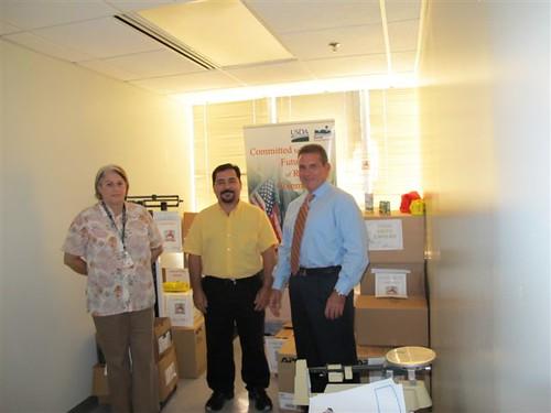 Nereida Rodríguez, USDA Puerto Rico Community Programs Director (RD); José Castro, Director Assistant (NRCS); and José A. Otero-García, State Director (RD)