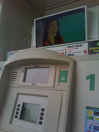 TV at Gas Station, Gas Station,