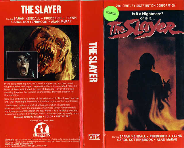 The Slayer (VHS Box Art)