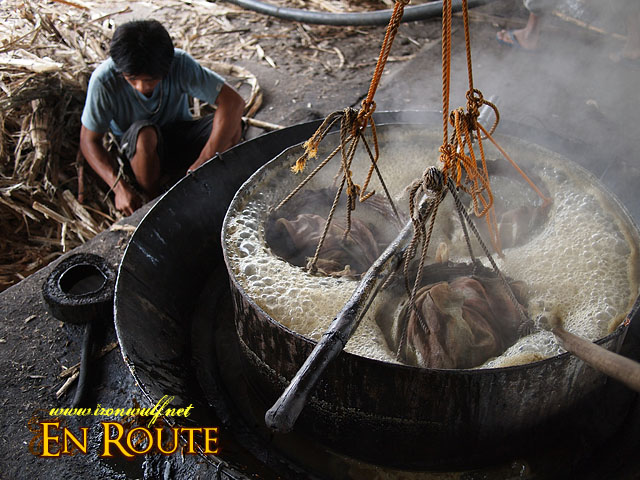Boiling the Patupat in Sugarcane Juice and Coconut Milk