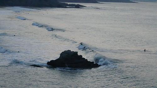 Sopelana surf puesta de sol surf30 olas de medio metro