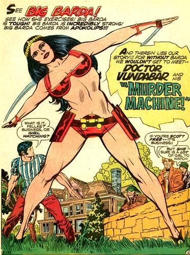 Big Barda from Mister Miracle 5 1971 splash by Jack Kirby