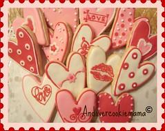 Quick Valentine's Day Cookies (Andovercookiemama) Tags: cookies valentines heartcookies valentinesdaycookies decoratedcookies