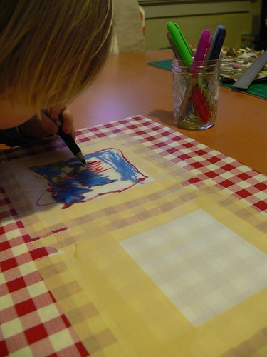 Jenny: Mug Rug with Kid Drawing