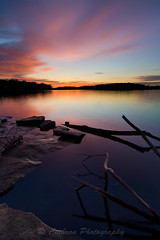 Silent Sunset (John Cothron) Tags: sunset sky cloud sun lake color nature water landscape unitedstates outdoor tennessee reservoir smyrna percypriestlake rutherfordcounty johncothron cothronphotography