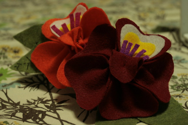 our hand-sewn flowers