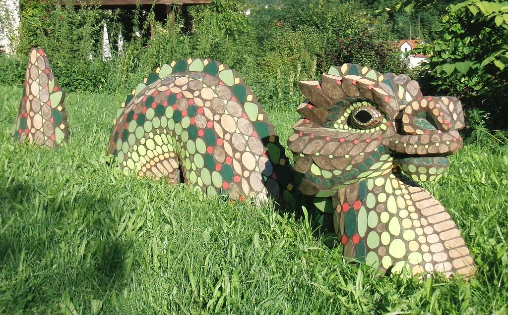 Drache Mosaik 2 (Haag MosaikART) Tags: Fliesen Drache Mosaik Gartendeko
