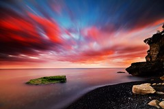 Sunset at Stevns Klint!!! (ulrikmadsen403) Tags: ndfilter longexposure sky nature zealand limestone denmark stevnsklint beach landscape sunset