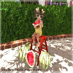 ʚ.Wacky Watermelon - 67 (Breauna Wynterr / Baby Face) Tags: bebe body toddleedoo baby toddler tot toddlers kids td secondlife sl doodlez wacky watermelon tiny gems yellow summer poses