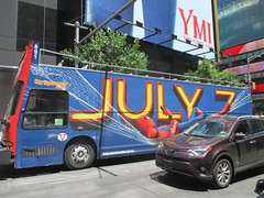 Spider-Man Homecoming Bus Ad 2017 NYC 8274 (Brechtbug) Tags: spiderman homecoming bus ad movie poster billboard 49th street 7th avenue 2017 nyc super hero marvel comic comics character spider man new york city film billboards standee theater theatre district midtown manhattan amazing home coming ads advertising hammock cel phone cell mobile cellphone
