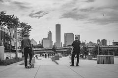 Skatepark (Cagdas Ozturk) Tags: skate skater skatepark park grant chicago urban city street photography black white monochrome bw bnw canon eos 80d