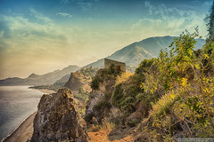 Marina d'Agro, Sicily (EVERY SO OFTEN) Tags: sicily marina dagro coast mountain beach rugged light rural sonya7r fe35mmza atmosphere environment sea sicilian italy landscape outdoors taormina evening may