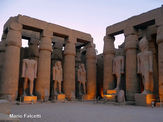 Egypt: Luxor (ancient Thebes) temple: Ramses II courtyard