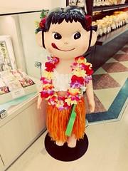 Peko Chan Hawaiian Style (Japanese Fujiya Store Mascot) (The Hungry World Citizen) Tags: mascot pekochan cute girl kawaii yummy delicious cakes sweets treat japanese japan fujiya