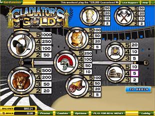 free Gladiator's Gold slot mini symbol