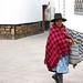 A woman in pink shawl, Potosi, Bolivia
