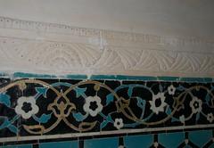 Ornamental Tile and Plaster (A.Davey) Tags: iran mahan shahnematollahvali islamictile islamictilework islamictiling