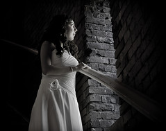 (Simple Insomnia) Tags: seattle wedding blackandwhite woman brick texture girl monochrome watertower marriage volunteerpark capitolhill