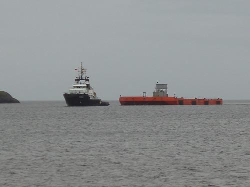 Tug Pegasus and barge, 28 July 2010
