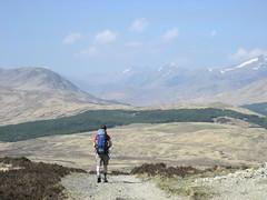 Insignificant me. (stevenhoneyman) Tags: bridge west way walking scotland highlands long walk scottish highland moor distance footpath orchy rannoch whw inverornan