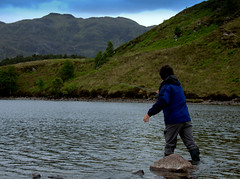 On The fly (Deborah Valentin) Tags: summer holiday scotland flyfishing morar lochmorar nicolasvalentin