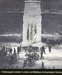 Coffin of the Unknown Warrior at the Cenotaph (11 November 1920) (Bishopsgate Institute) Tags: rememberanceday unknownwarrior warmemorials londonuk cenotaphs thecenotaph bishopsgateinstitute armsticeday londonandmiddlesexarchaeologicalsociety