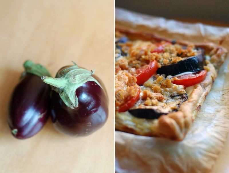 tarte tomate e beringela //