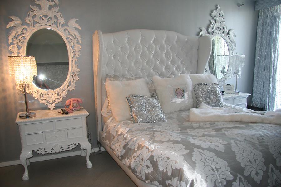 White Croc Elegant Bed Only 2000 Diva Rocker Glam 424 245 4503