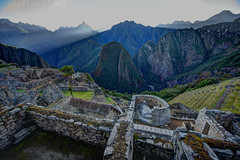temple of the sun (shapeshift) Tags: peru agriculture temple stone inca roof lostcity terraces buildings jungle 1424mm nature travel highlands architecture sunrise stones andes mountains archaeology southamerica machupicchu ruins astronomy precolumbian temples landscape nikon d700 flickrtravelaward davidpham shapeshift davidphamsf pham david phamman dpham shapeshiftnet documentary