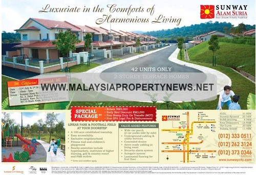 Terrace homes for sale in Sunway Alam Suria