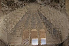 Under the Bazaar Dome (A.Davey) Tags: tile iran plaster dome bazaar kerman islamicdome islamictile islamictilework islamicplasterwork