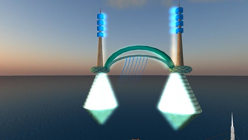 bridge building in virtual world