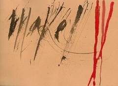 Herramientas experimentales 1 (Pangrama (daro-b)) Tags: experimental calligraphy tempera daro dario caligrafa butti tmpera darob