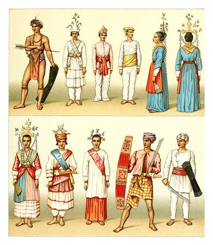 030-Oceania-trajes -Geschichte des kostüms in chronologischer entwicklung 1888- A. Racinet