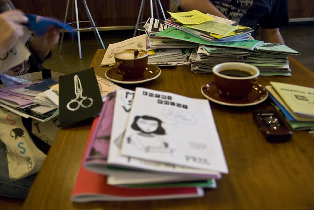 coffee and zines, theme of the weekend