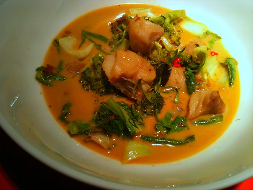 coconut curry with greens