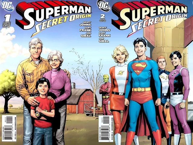 Superman Secret Origin Gary Frank covers 1-2 joined