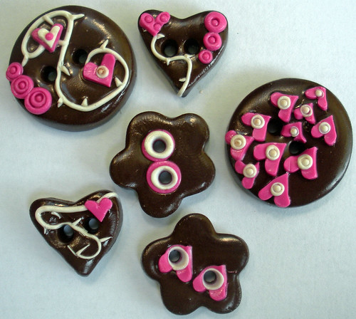 Tessa Ann Raspberry Chocolate Ganache buttons