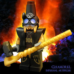 Ghamorel, Infernal Artificer (Morgan190) Tags: halloween lego hell minifig blacksmith forge underworld custom abyss hellfire m19 minifigure purgatory morgan19